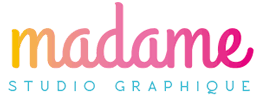 Logo madame graphiste culinaire